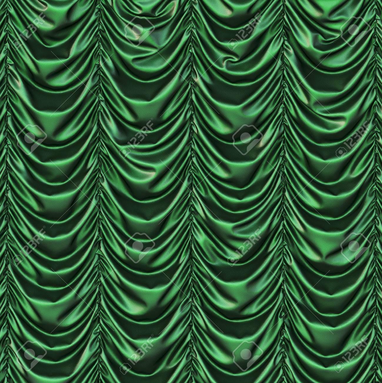Theater Green Curtains Presentation Banco De Imagens