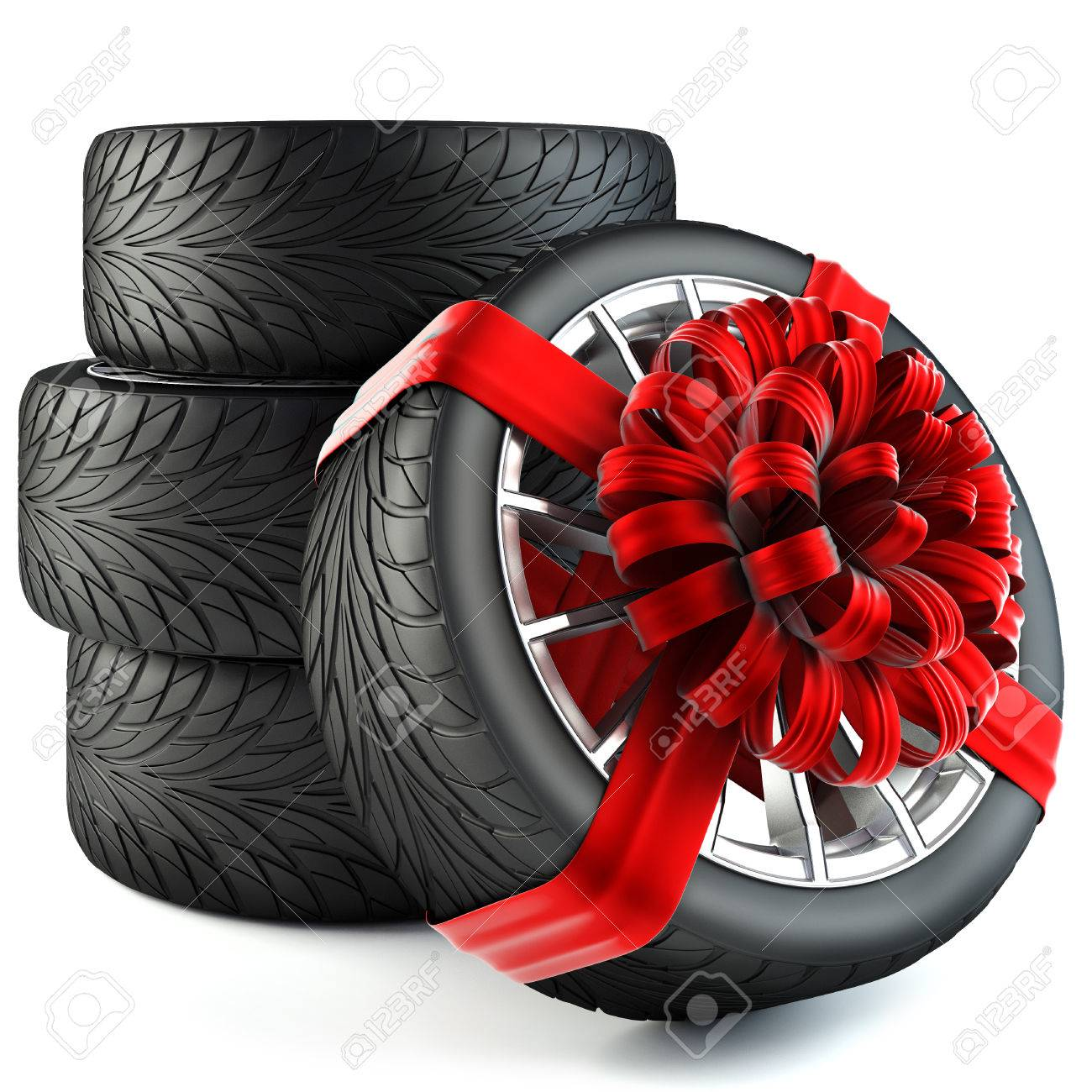 Discount tire stock photos pictures royalty free discount tire tires wrapped in red gift ribbon with a bow isolated on white background buycottarizona