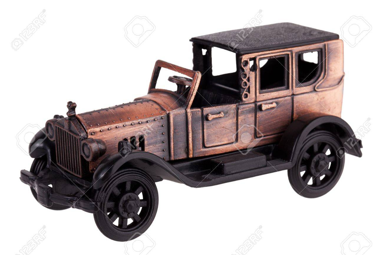 Copy Of An Old Car On A White Background Stock Photo Picture And