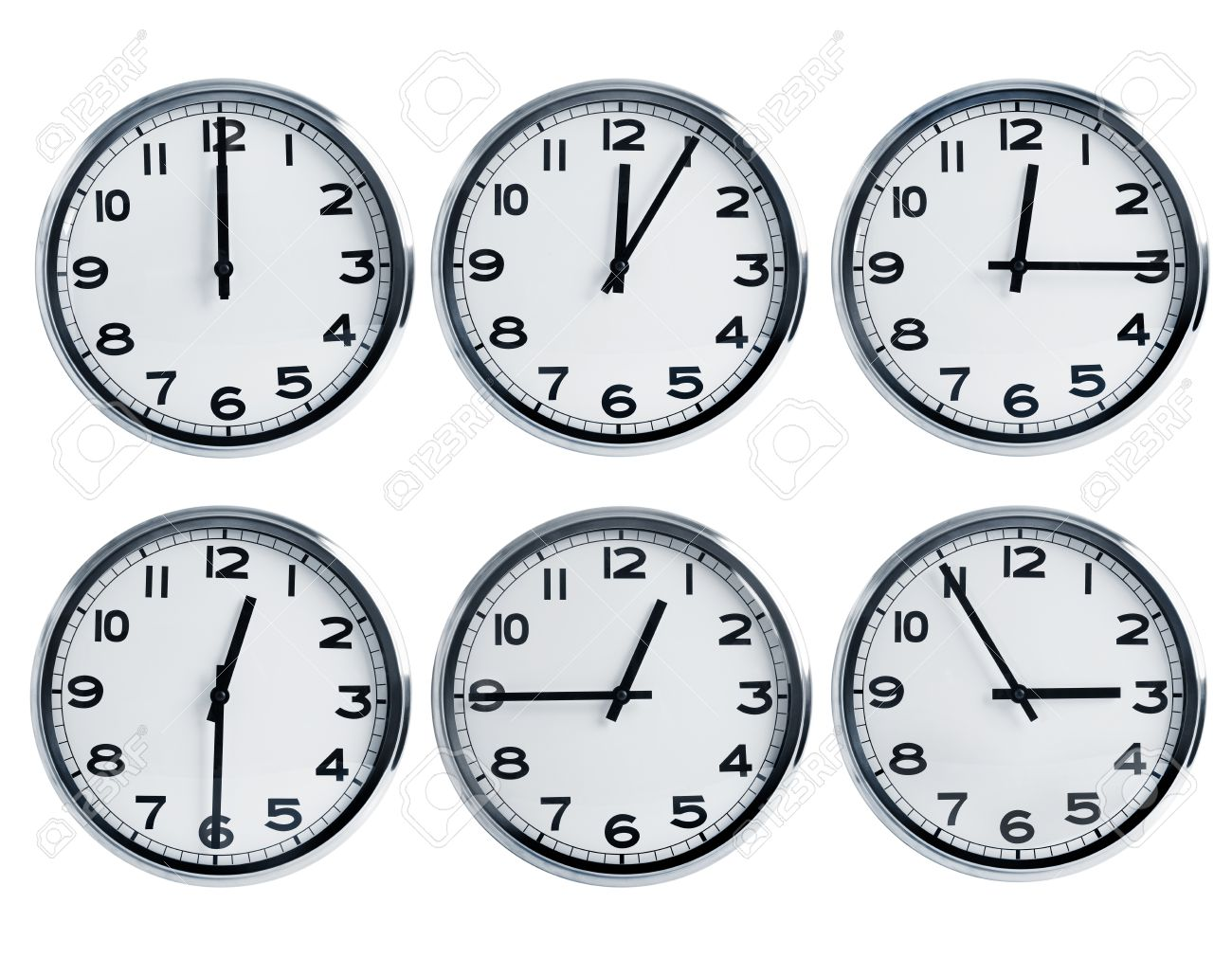 Wall clocks with different time on a dial