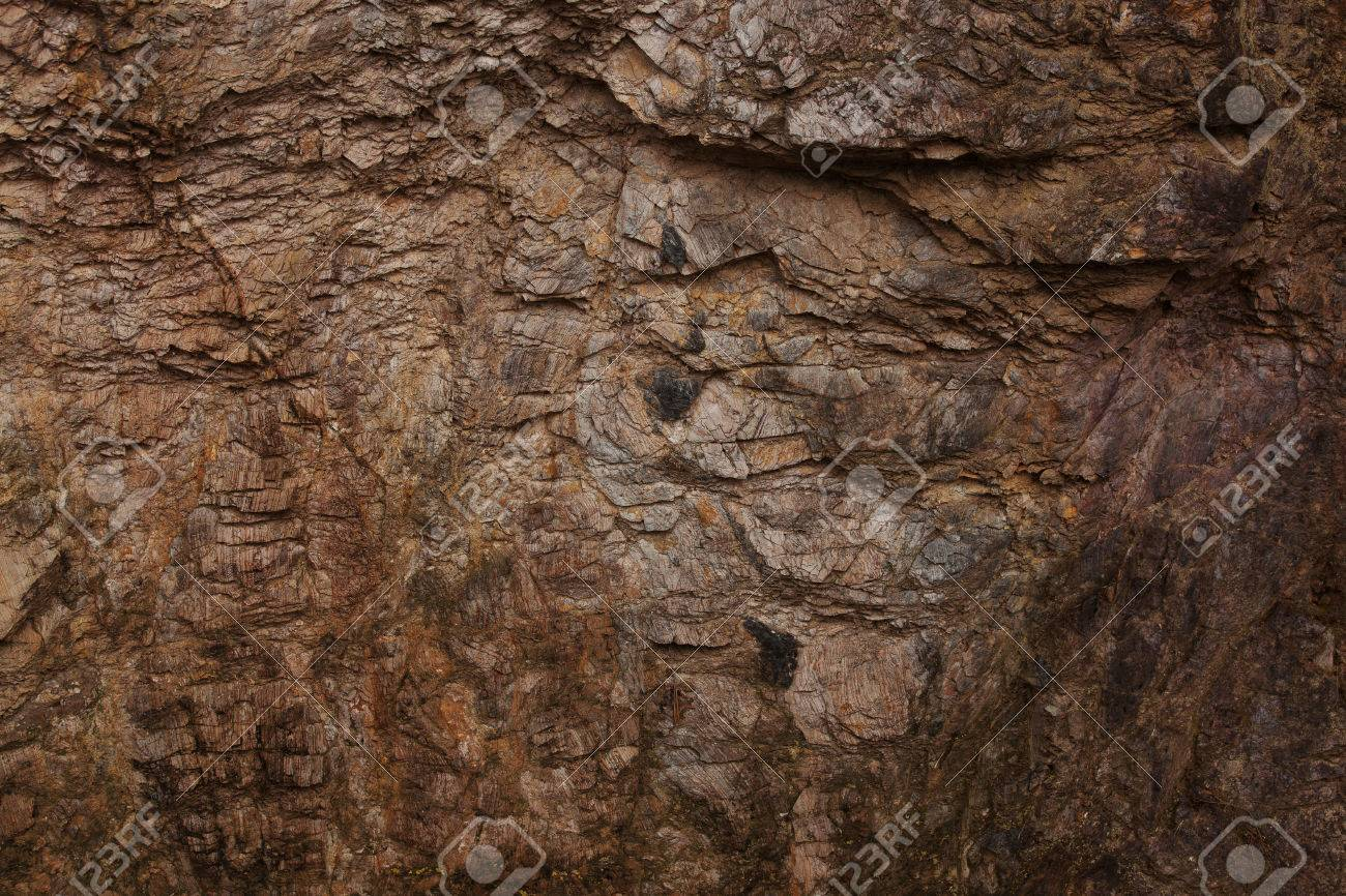 Dark brown stone with lots of small cracks Stock Photo - 23579822
