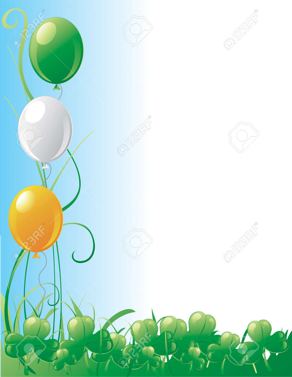 St. Patrick's day border with grass and a blue sky Stock Photo - 2666757