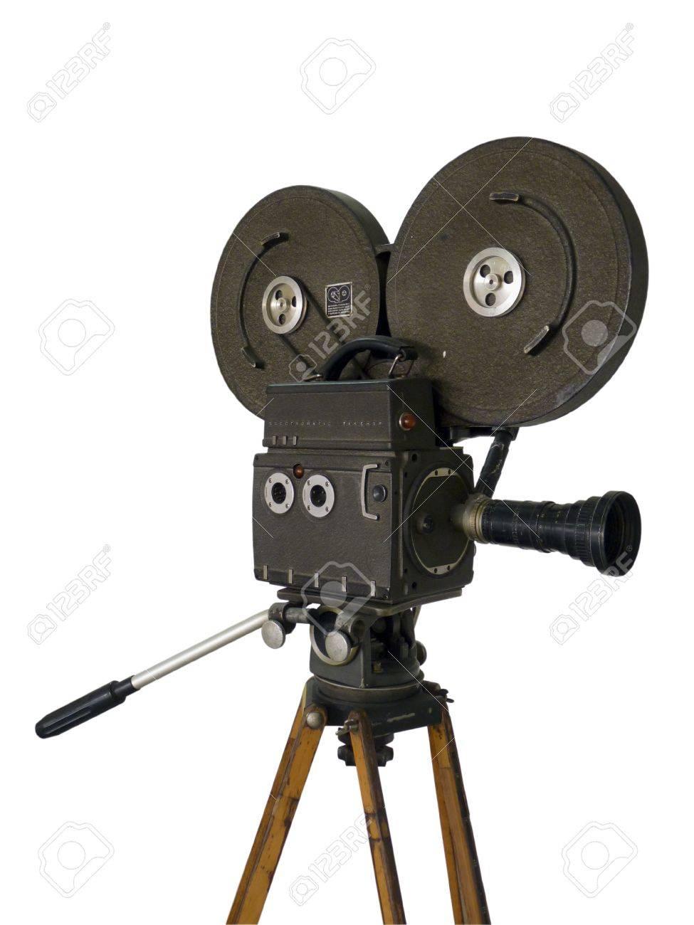Movie camera on a white background Stock Photo - 15233270