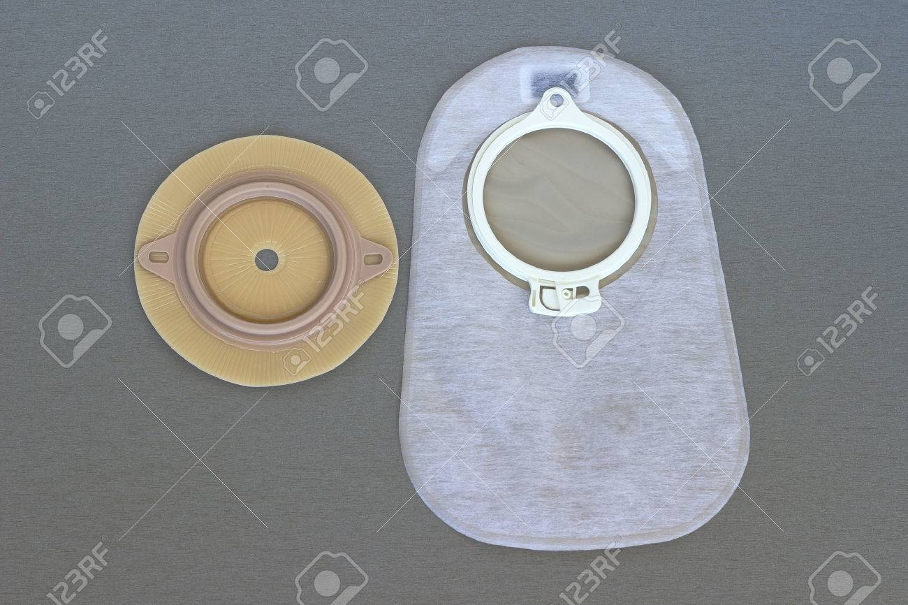 Accessory bag and disk for colostomy Stock Photo - 26071775