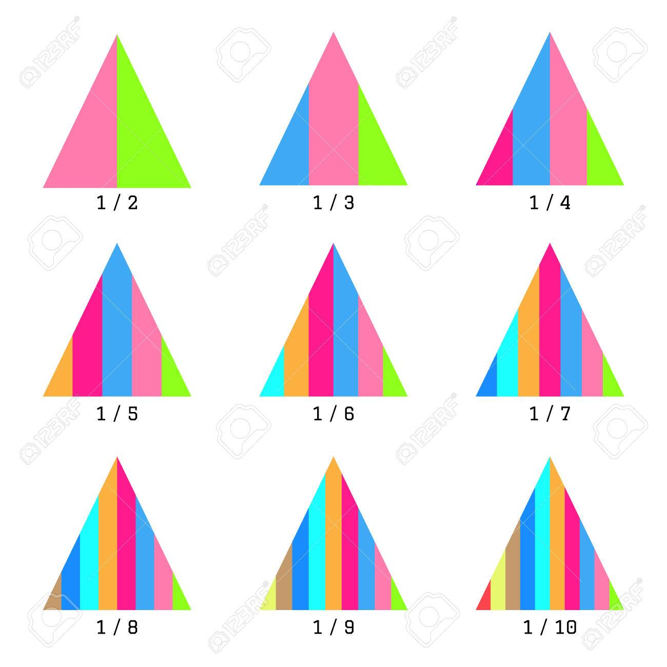 Set Of Colored Vertical Layer Pyramid Charts. Templates Graphs ...