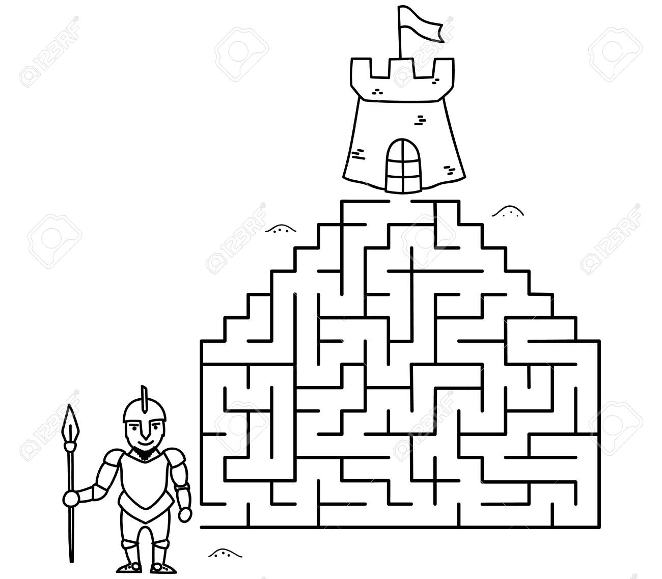 Large maze #2 coloring page - Print. Color. Fun!   1137x1300
