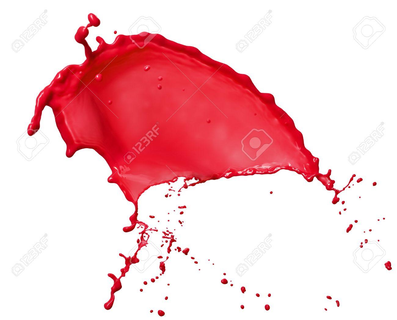 Pink liquid splash isolated on white backgraound - 25950826