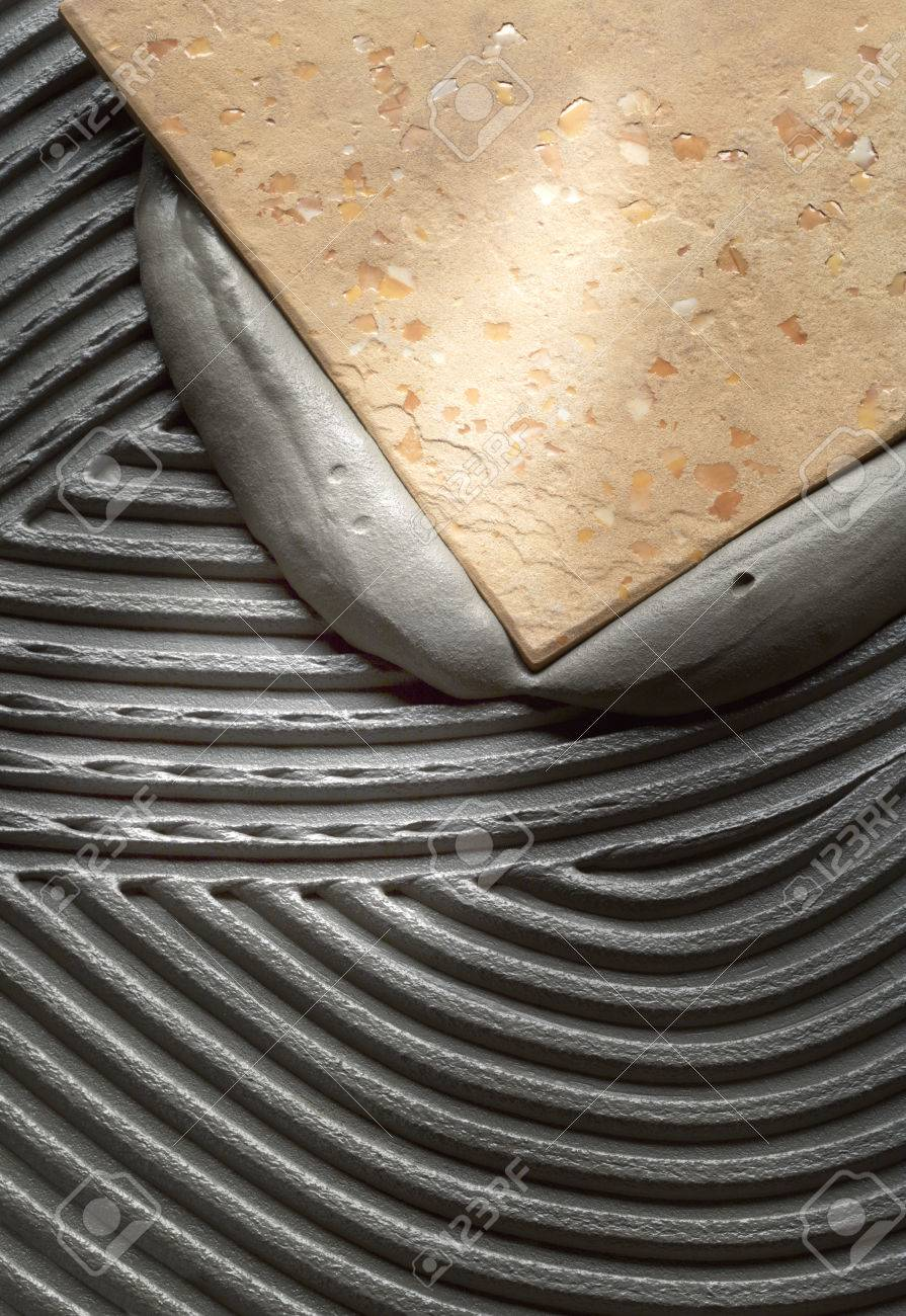 Floor tiles installation - 28505604
