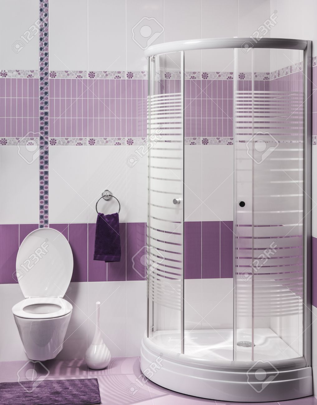 Detail Of A Modern Bathroom Interior With Luxury Shower And Toilet ...