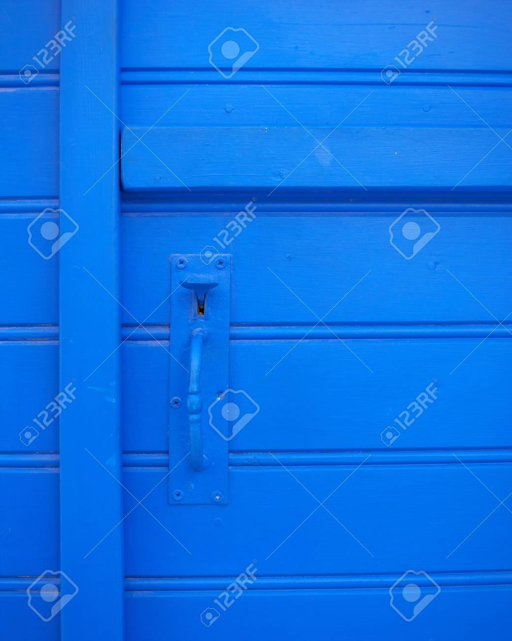 old blue door closeup, background Stock Photo - 10566506