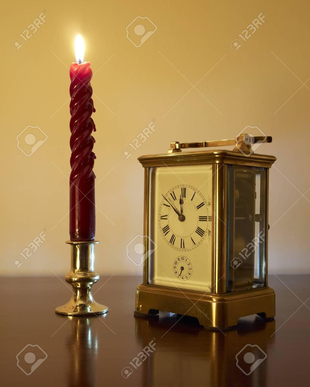 Y Antes Año Vela Nuevo Reloj Bronce De Anticipación Minutos fb7Yg6vIy