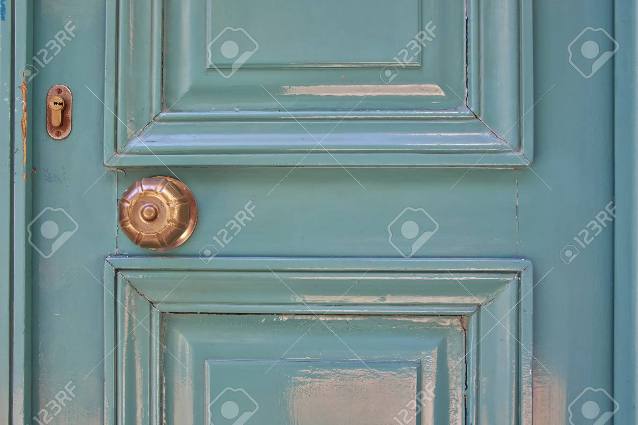 Elegant Light Green Door Close-up Stock Photo, Picture And Royalty ...