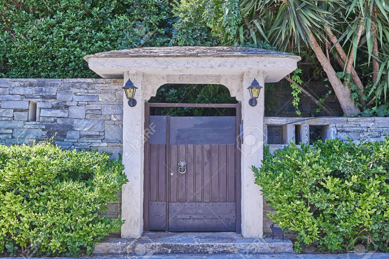 Porte maison de jardin contemporain, Athènes Grèce