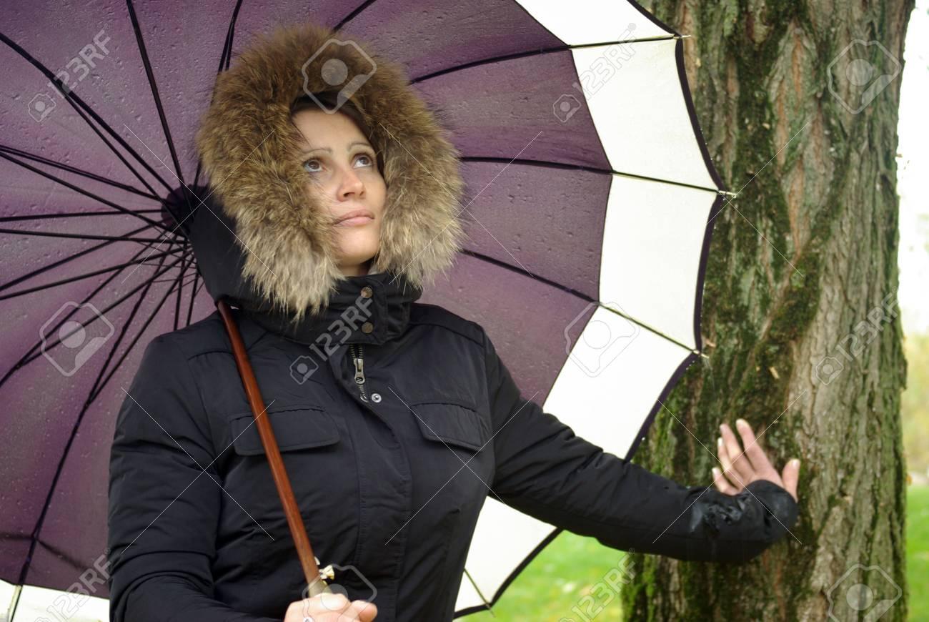 Woman with umbrella Stock Photo - 5849322