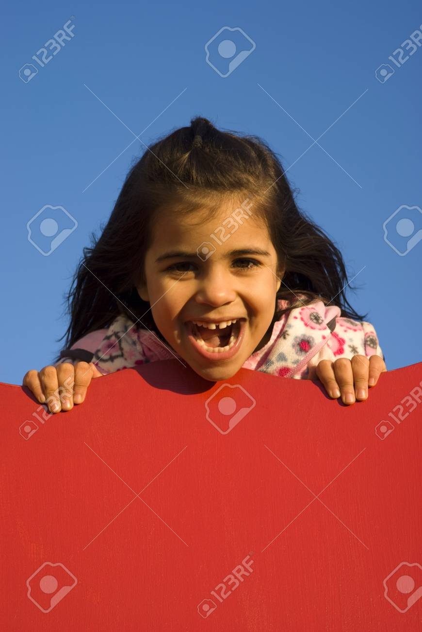 Little girl at playground Stock Photo - 9411270