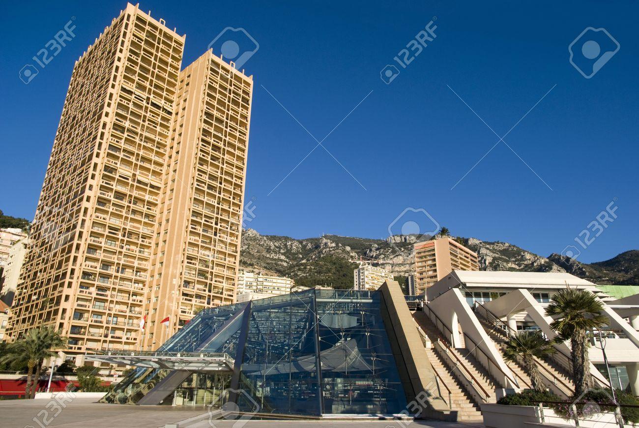 Monte Carlo skyscrapers and the Grimaldi Forum Stock Photo - 16820828