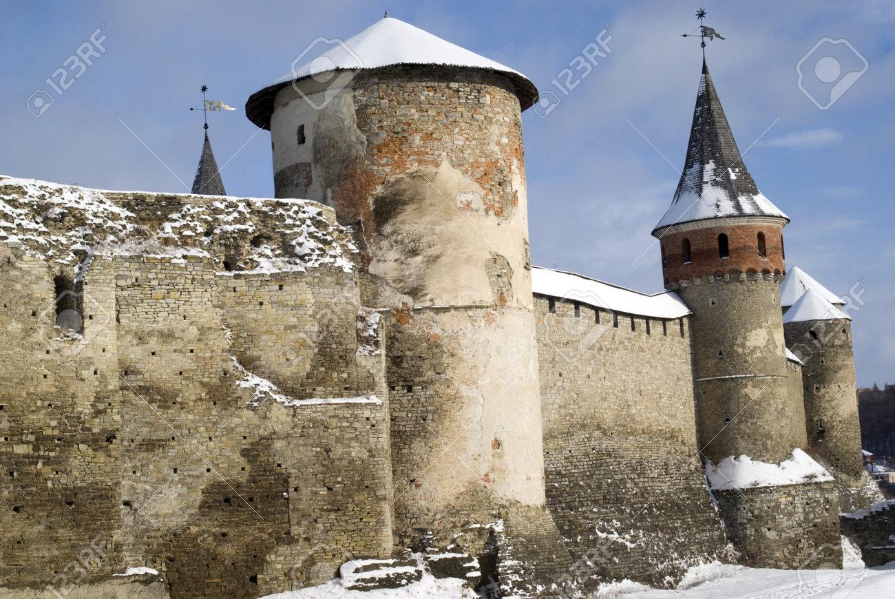 Kamyanets-Podilsky, Ukraine � January 15, 2012:  The medieval fortress Stock Photo - 17227982