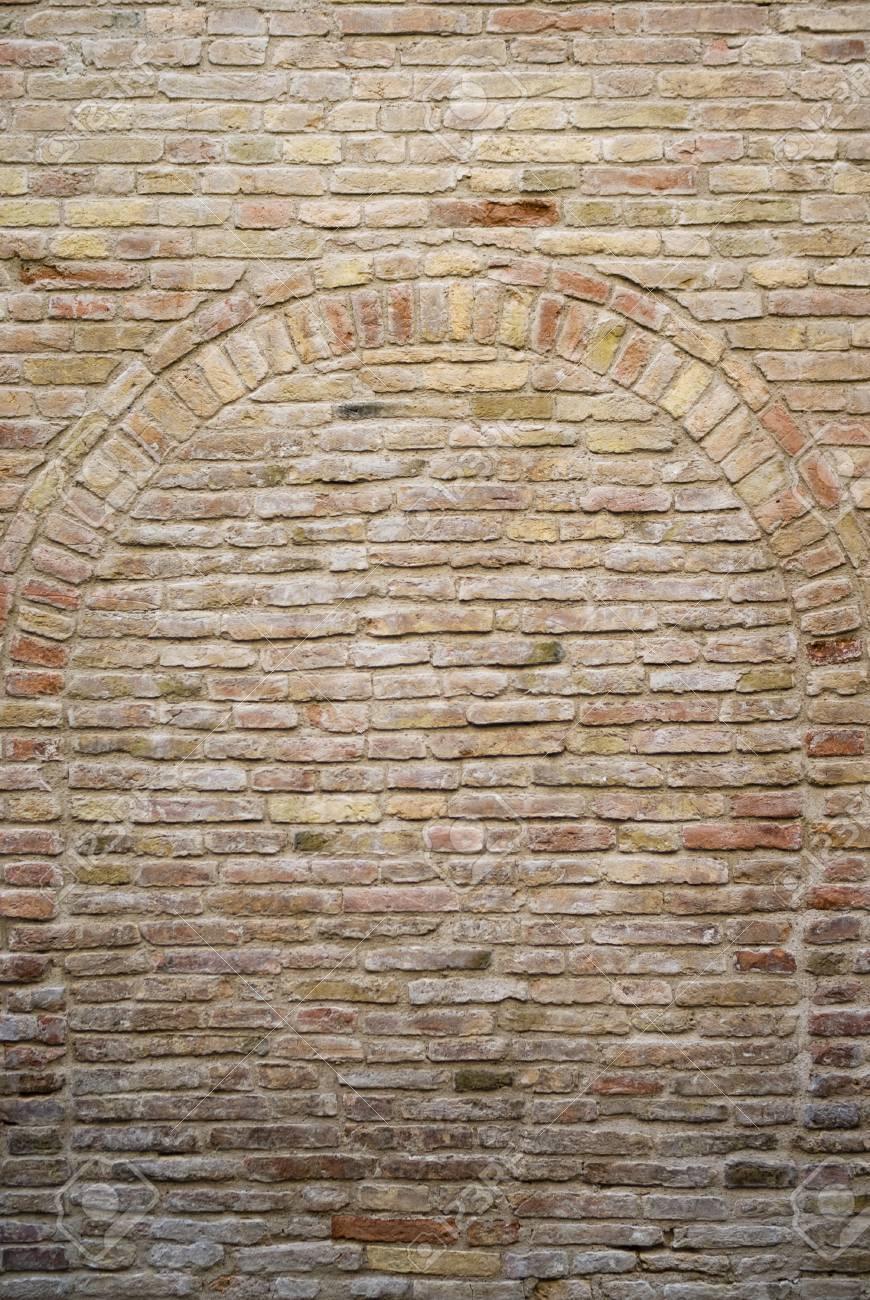 Old bricked wall - 54581922