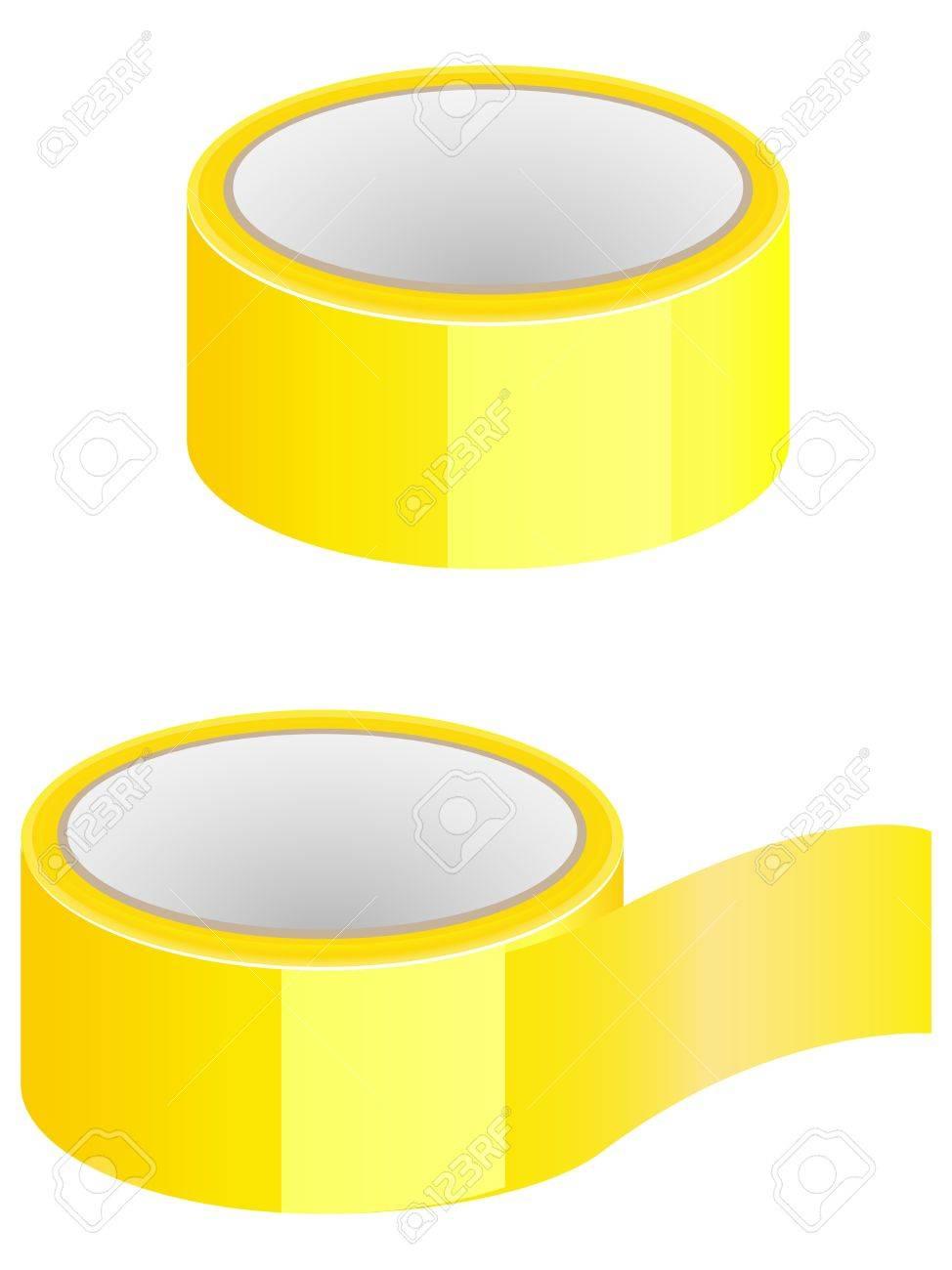 Yellow scotch Stock Vector - 10425197