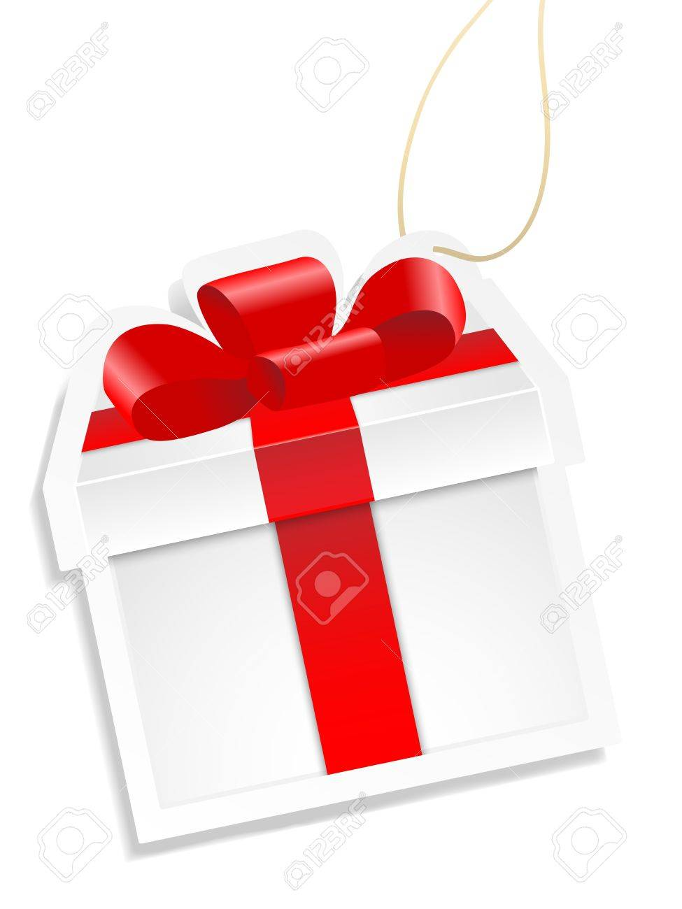 White gift box. Vector. Stock Vector - 12065371
