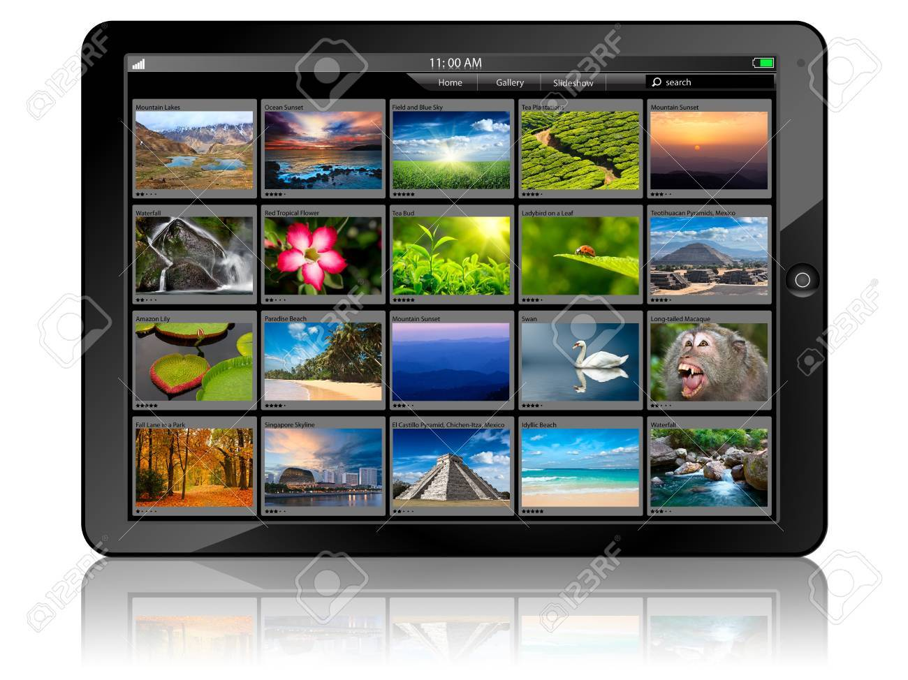 Tablet PC with photo gallery Stock Photo - 11547084