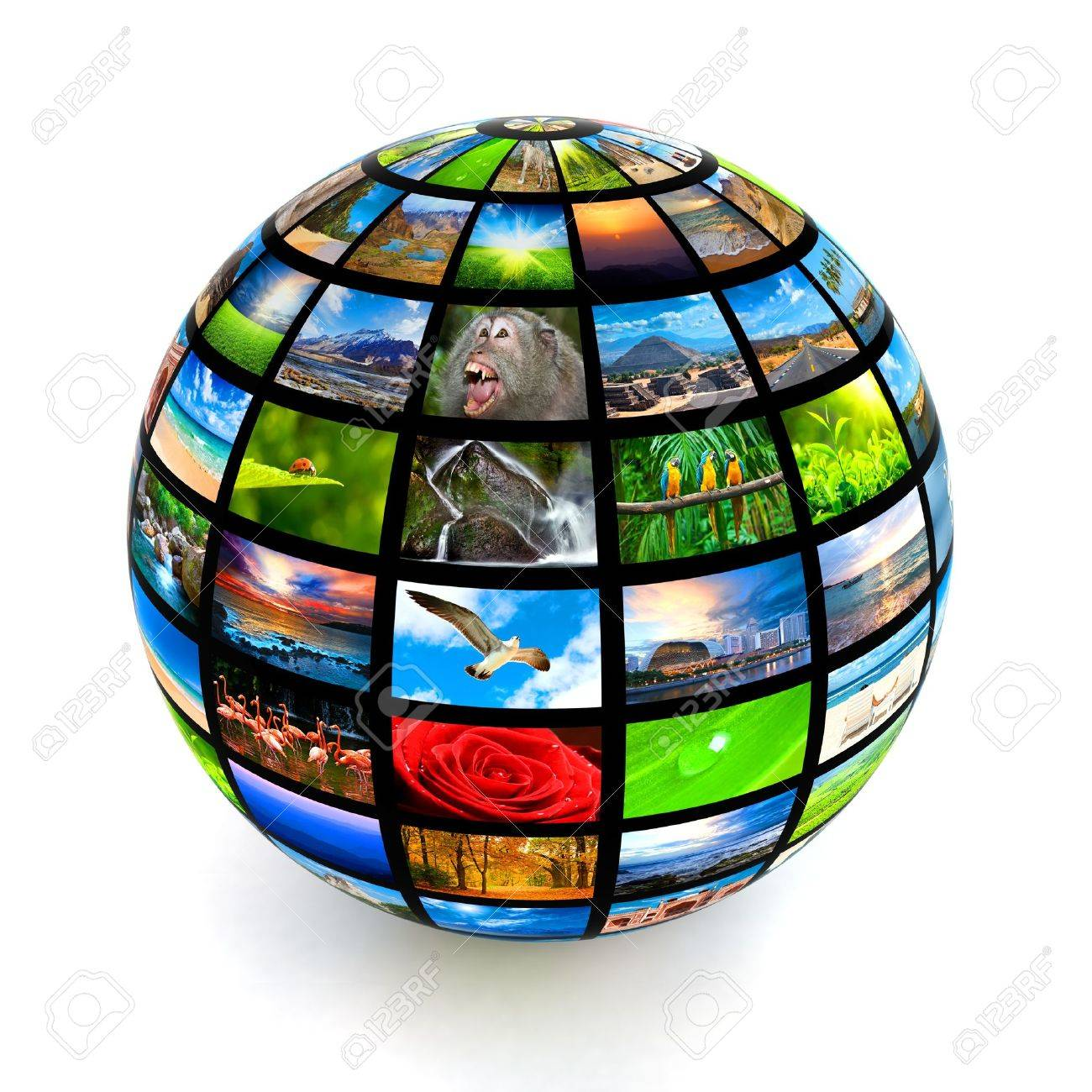 Picture globe isolated Stock Photo - 12635690