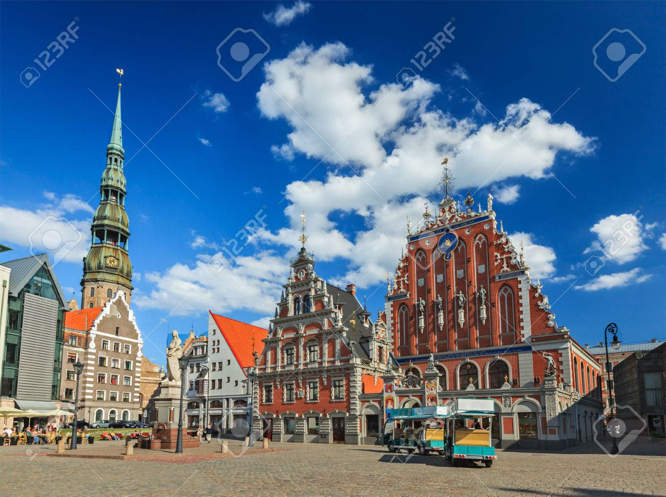Riga Town Hall Square, House Of The Blackheads And St. Peter's ...