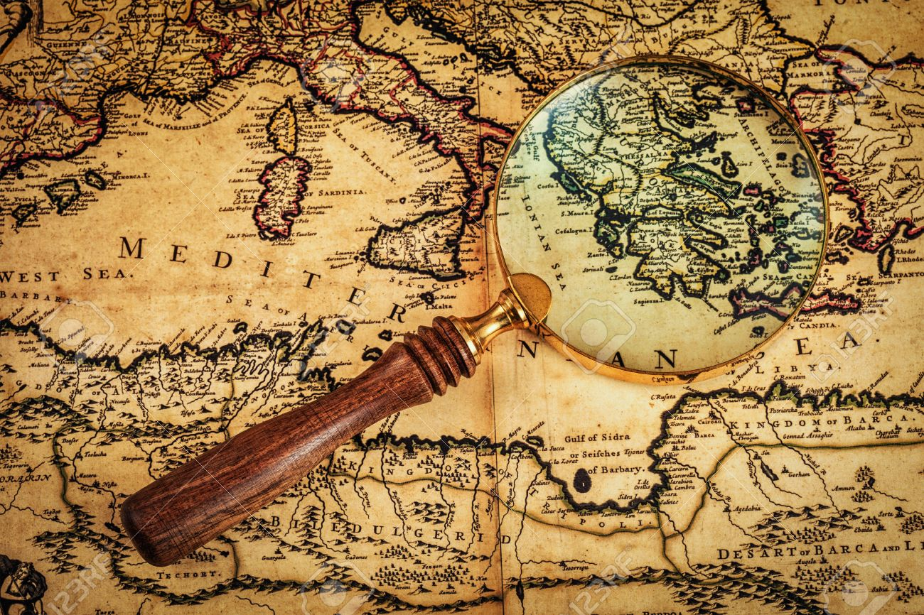 Travel Geography Navigation Concept Background - Old Vintage.. Stock ...