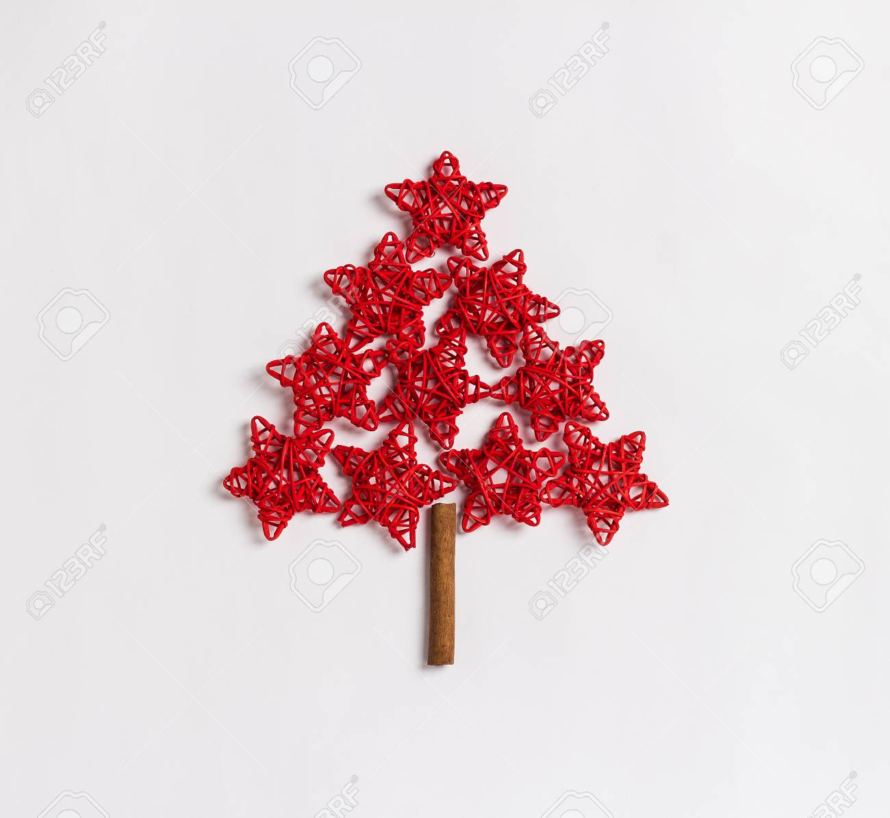 Christmas Tree Made Of Red Stars Concept Isolated On White Background Stock Photo Picture And Royalty Free Image Image 89969551