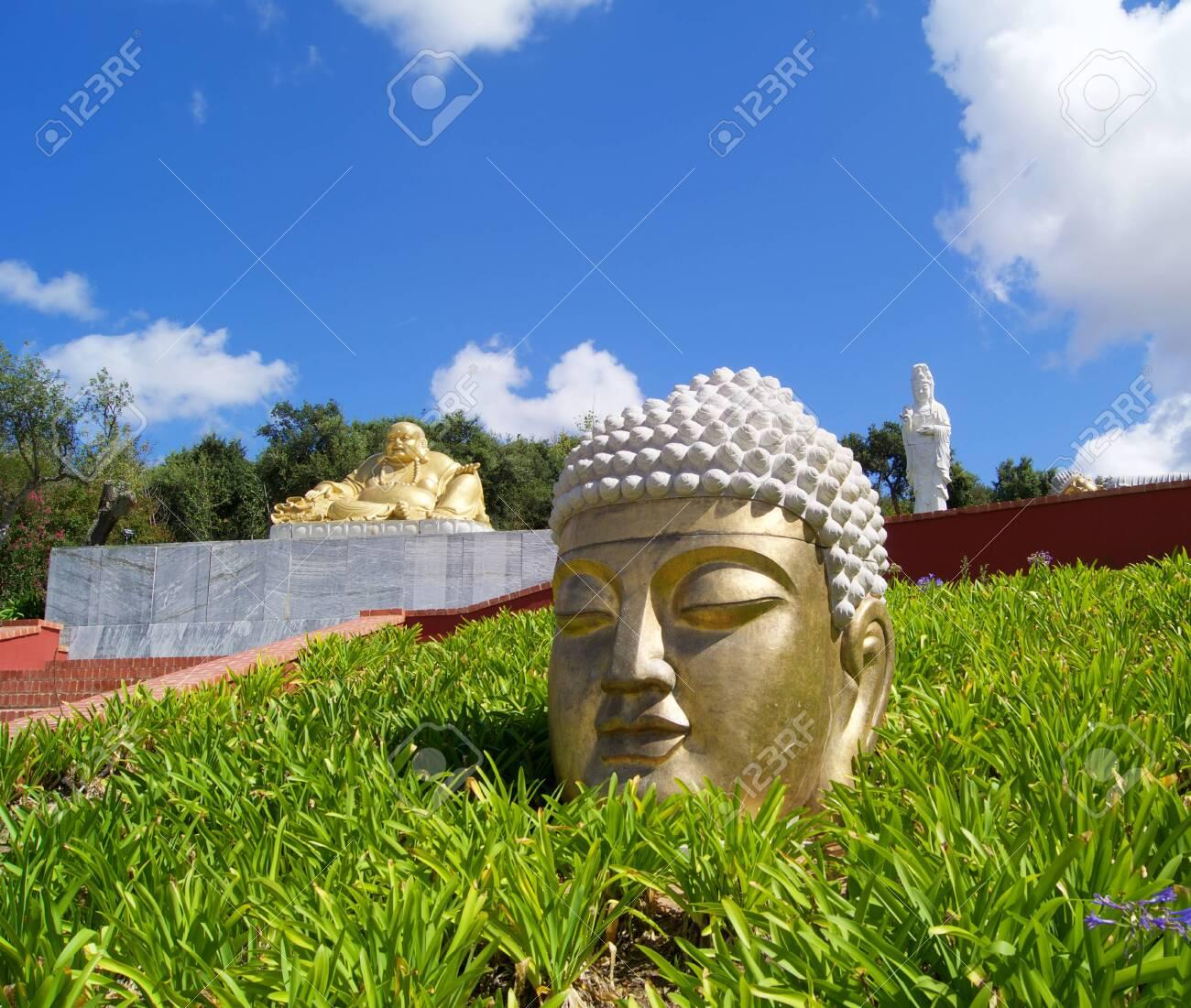 Green Terracotta Standing Buddha