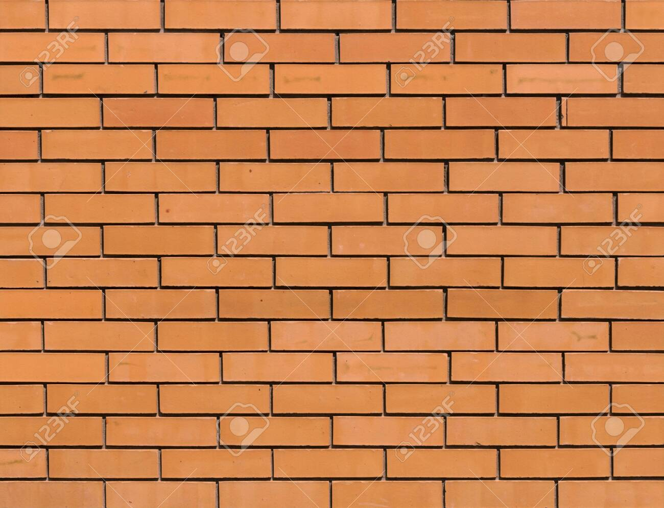 Red orange brick wall for background texture - 135236875
