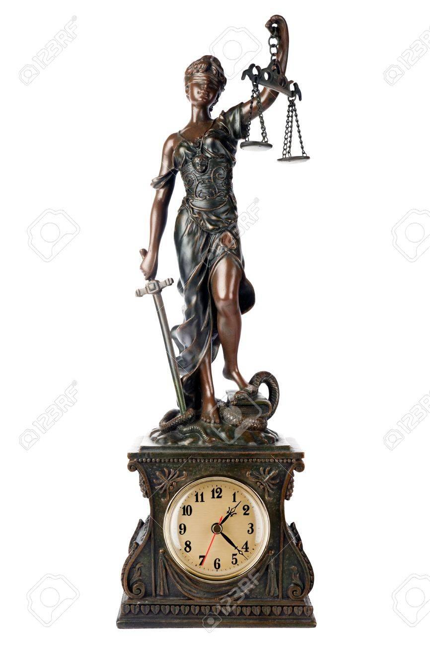 Concept Of Time For Justice Themis Mythological Greek Goddess