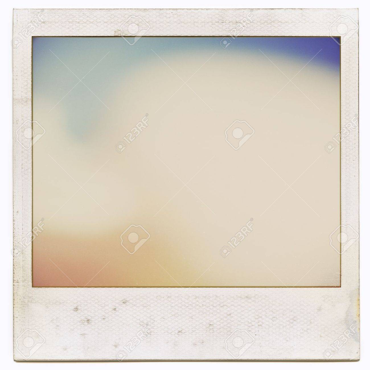 designed grungy instant film frame with abstract filling isolated on white kind of background