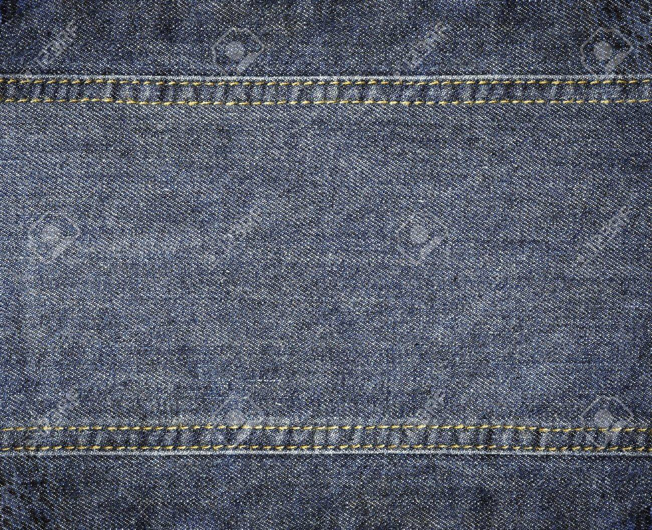 f24c1321dd52 Highly detailed worn denim texture - abstract dirty blue jeans background  with double thread s seam Stock