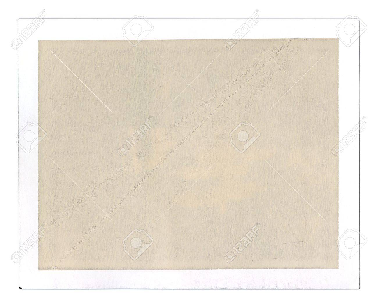 old grungy blank peel apart instant film frame textured sepia filling for overlay