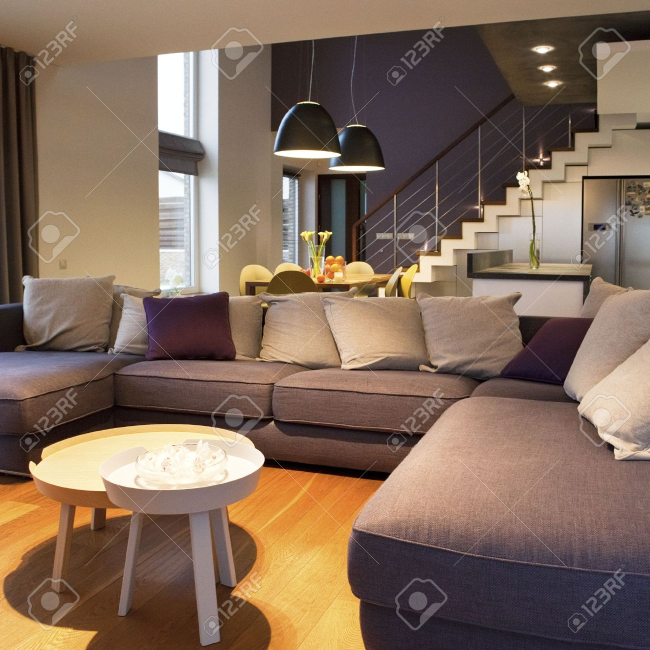 interior design - accogliente soggiorno al primo piano e cucina ... - Design Soggiorno Pranzo