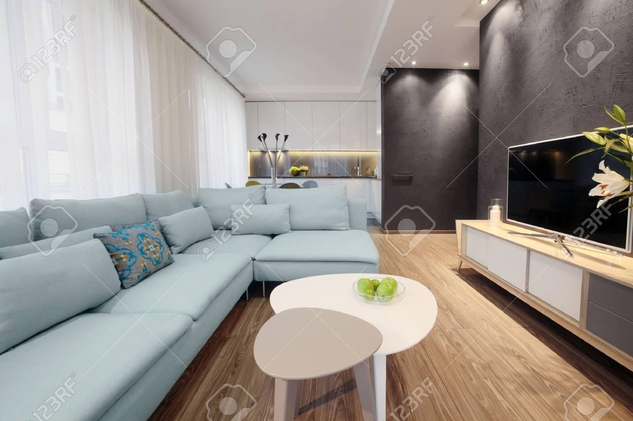banque dimages intrieur design moderne dun salon dans un petit appartement