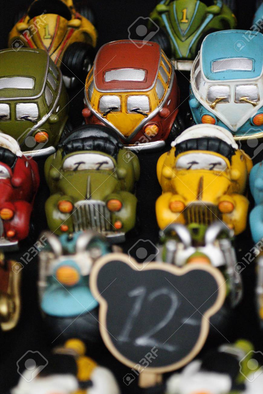 Fridge Magnet Shaped Of Vehicles On Sale Stock Photo, Picture And ...