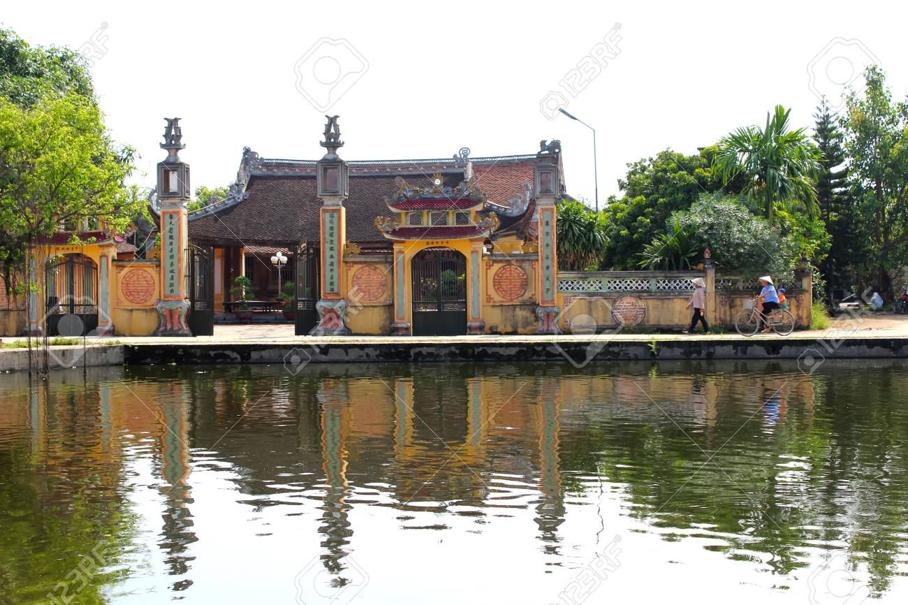 hai duong vietnam september 22 temple in the traditional stock