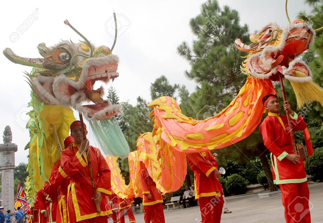 Asian people dance