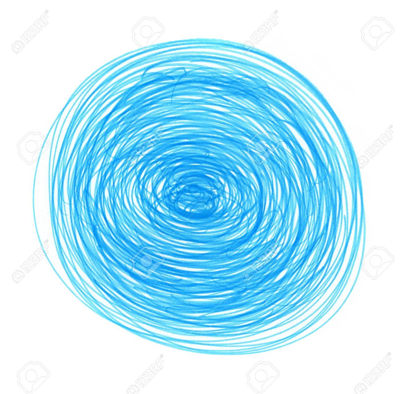 Immagini Stock Astratto Blu Dissipato Elemento Tondo Per La