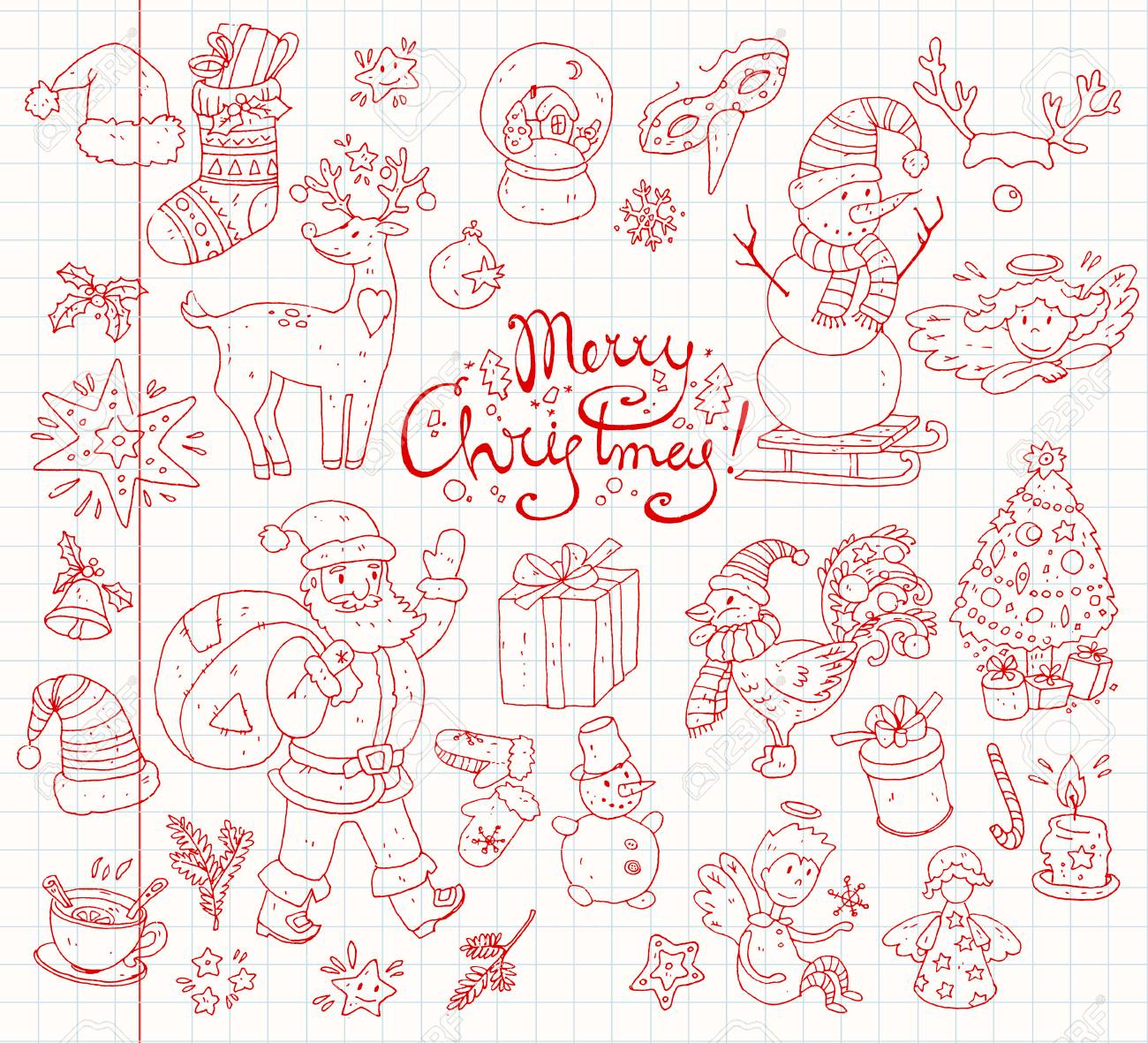 Big Vector Collection Of New Year And Christmas Objects And Symbols