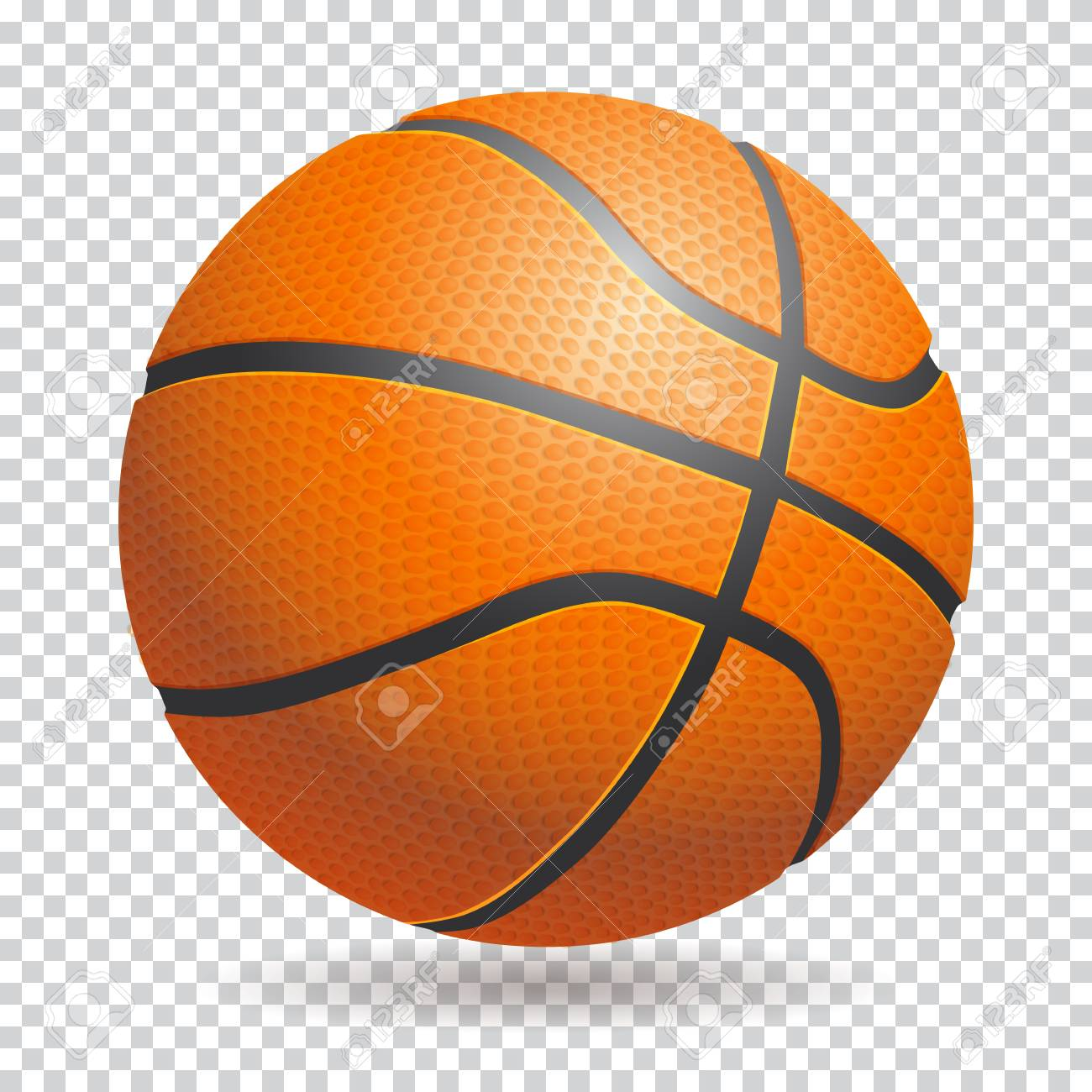 Vector 3d Basketball Isolated Ball On Transparent Background Royalty Free Cliparts Vectors And Stock Illustration Image 81916496