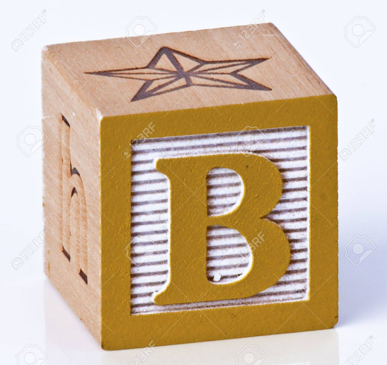 Wooden Block Letter B Stock Picture And Royalty Free Image