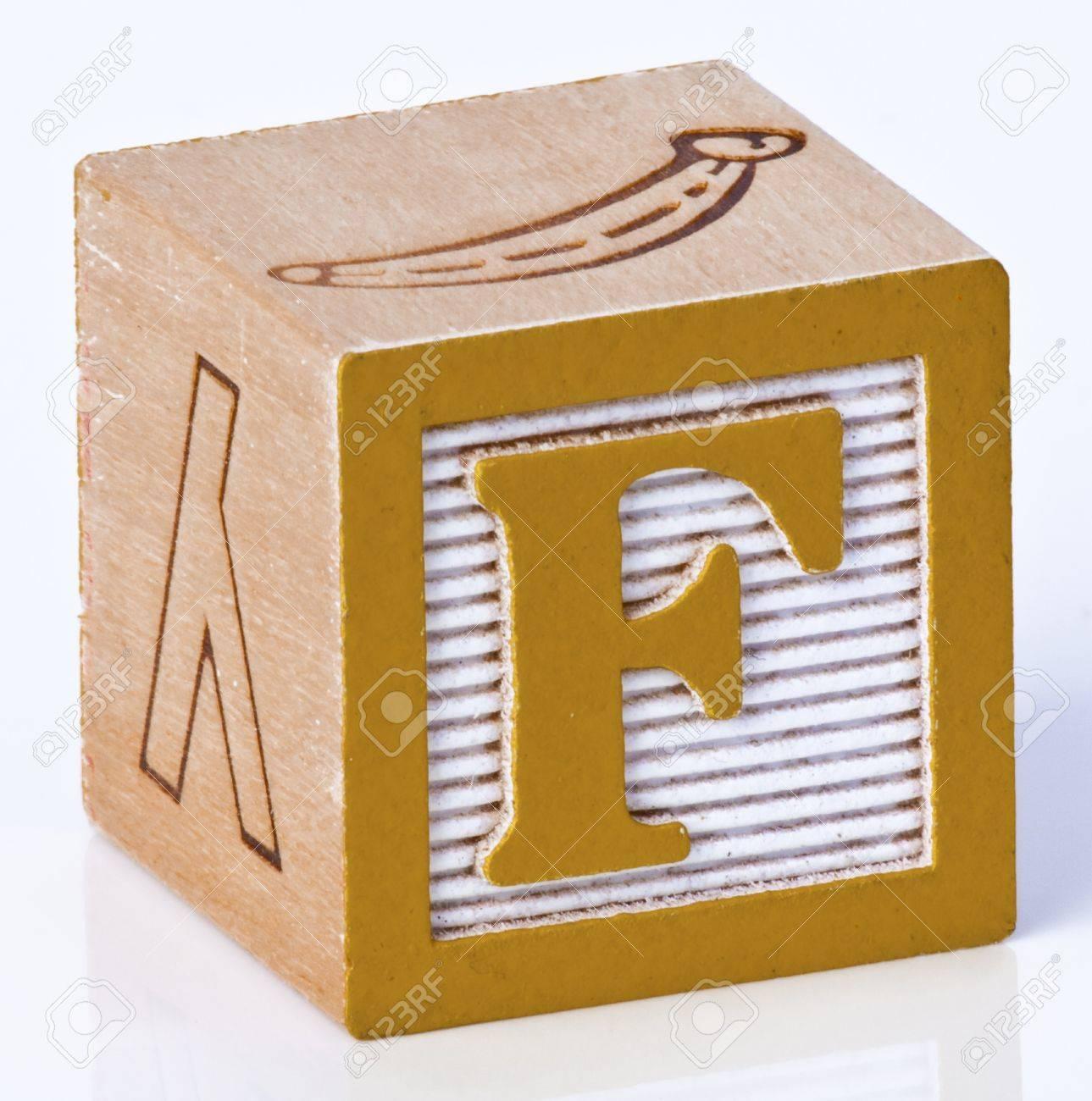 Wooden Block Letter F Stock Photo - 7043423