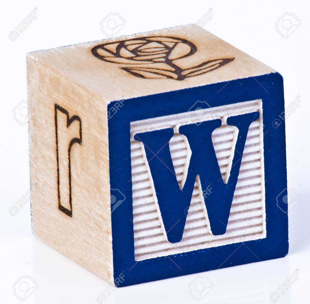 stock photo wooden block letter w