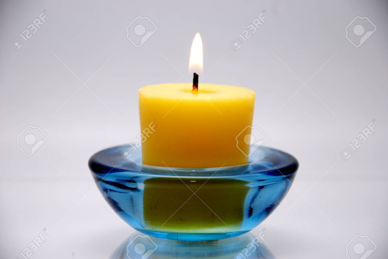 Blue Candle Transparents With Fire : White Background Stock Photo ... for Blue Candle White Background  585eri