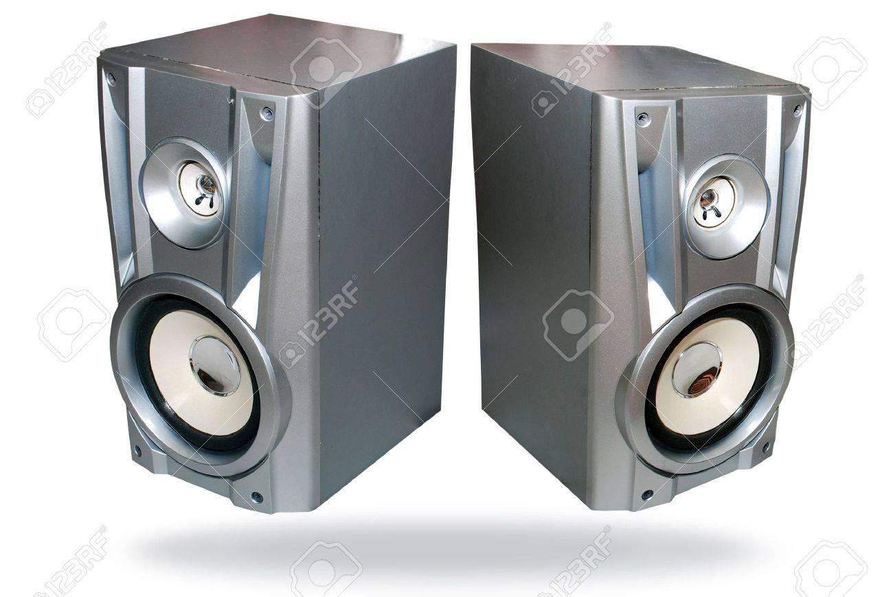 closeup of bass reflex speaker. loud speaker