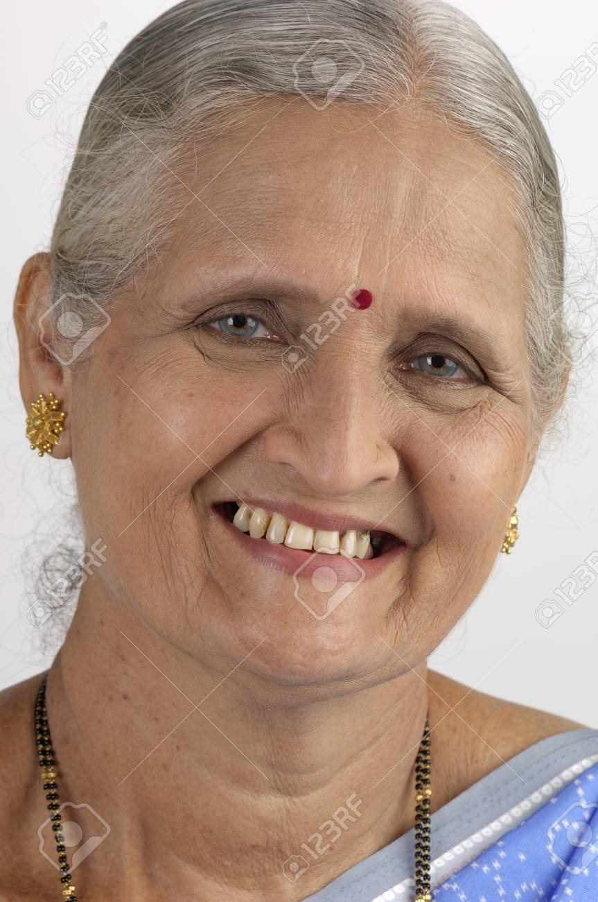 Indian Old Lady Images