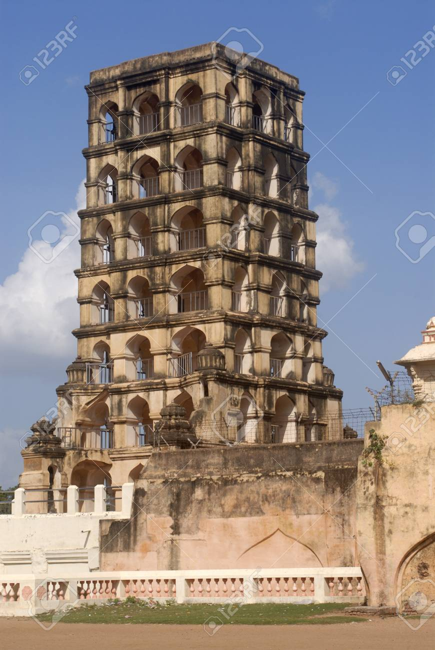 Bell Tower in Thanjavur palace complex,Thanjavur,Tamil Nadu,India